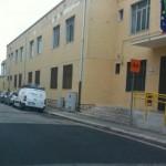 Strisce area di sosta pullman scolastico plesso Marconi