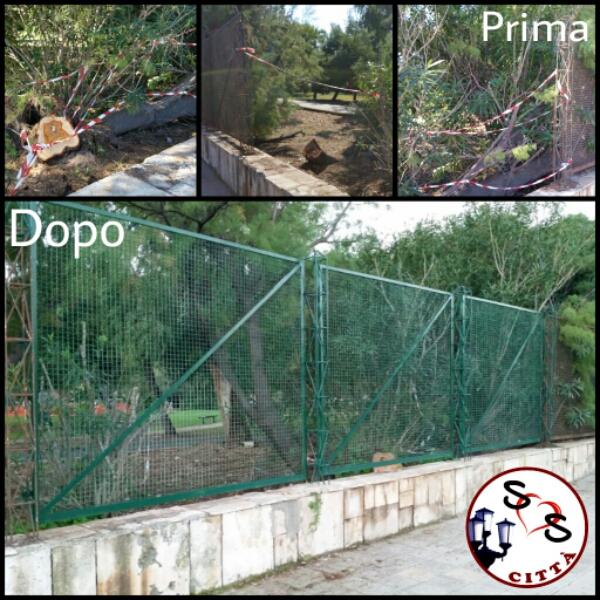 Ripristinata recinzione della Pineta San Francesco