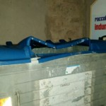 Contenitore carta con coperchio schiacciato in Via Don Cesare Franco