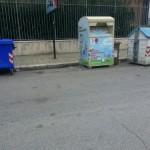 Contenitore plastica scomparso in Via Napoli