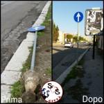 AGGIORNAMENTO palo divelto in Via Falcone e Borsellino