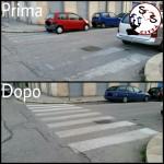 AGGIORNAMENTO segnaletica scolorita in Via Brigata Regina