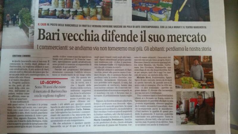 Difendiamo il mercato di #Bari vecchia!