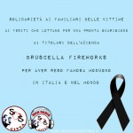Solidarietà alla Bruscella Fireworks di Modugno