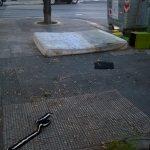 Ancora rifiuti in Largo Ciaia