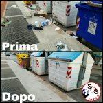 Effettuato intervento di pulizia in via Leoncavallo