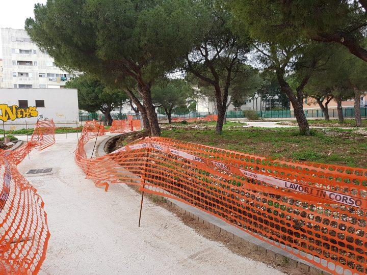 Sopralluogo presso cantiere giardino san Luca a Japigia