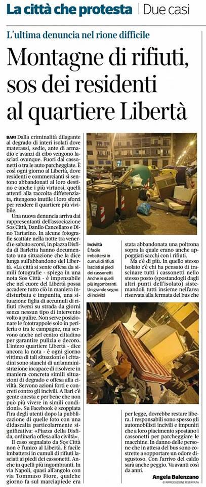 Corriere del Mezzogiorno del 22/04/2018