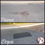 Manutenzione stradale in via Peucetia