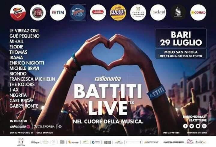 Battiti Live '18, ultima tappa a Bari