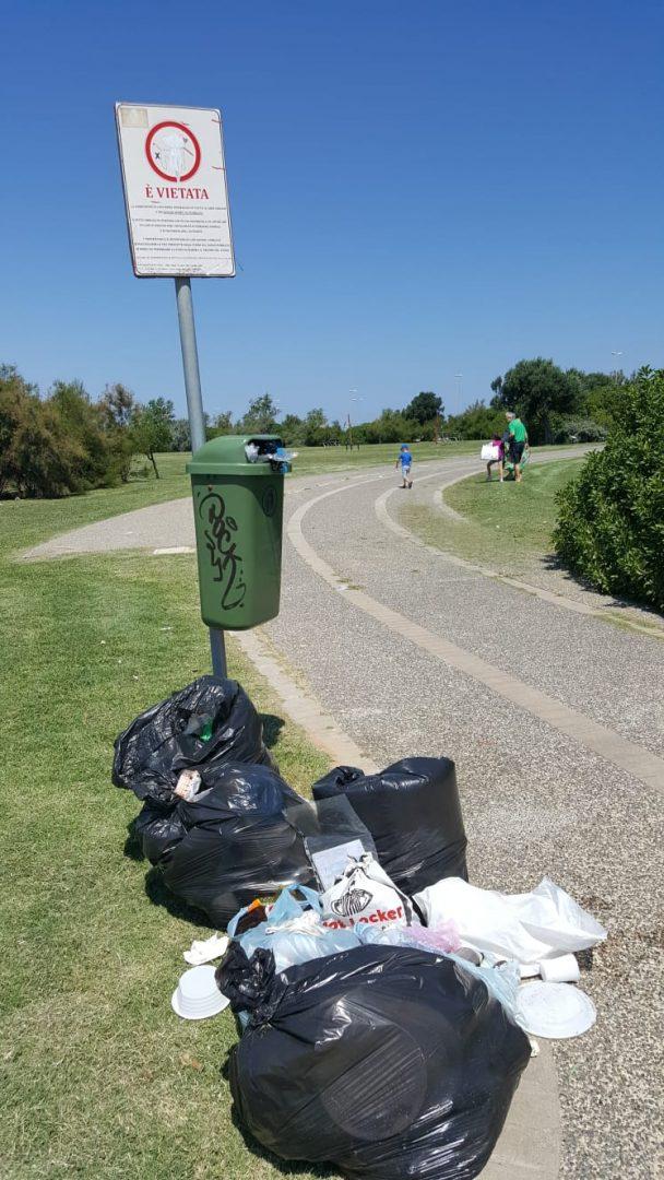 Parco Perotti ancora nel degrado