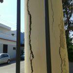 Rischio crollo a effetto domino dei pali dell'elettricità a Palese