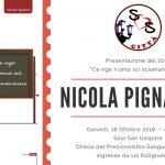 """""""Ce nge n'ama scì sciamaninne"""": Nicola Pignataro con Sos Città presenta il suo ultimo libro"""