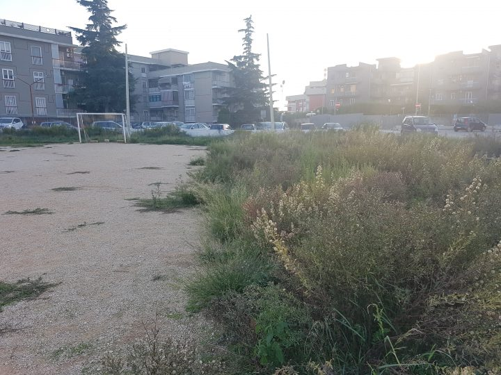 Villaggio del Lavoratore, l'ennesimo campo da calcio abbandonato