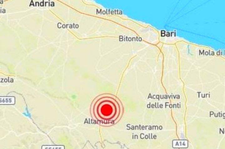 ULTIM'ORA Avvertito a Bari terremoto di magnitudo 3.9