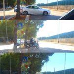 Poggiofranco: attraversamento pedonale da scivolo per i disabili a svincolo per l'inversione di marcia delle automobili