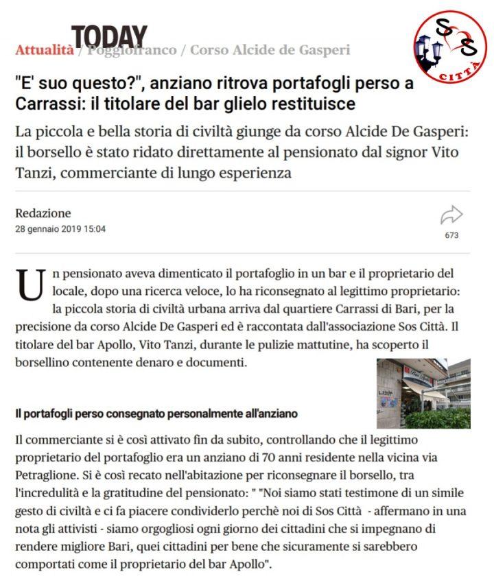 Rassegna stampa del 28/01/2019