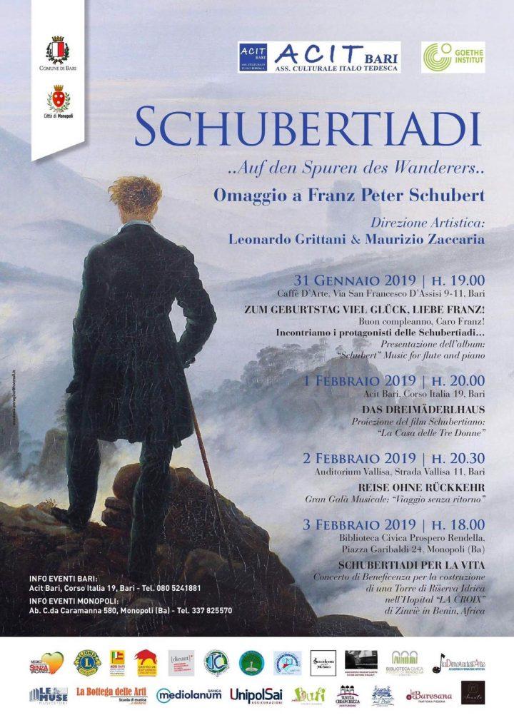 ACIT e Goethe Institut presentano le Schubertiadi a Bari