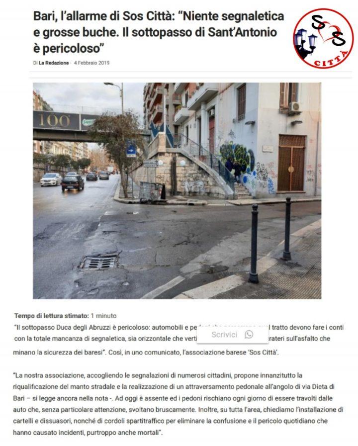 Rassegna stampa del 04/02/2019