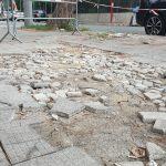 Il mistero del marciapiede di corso Alcide De Gasperi