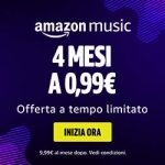 Con noi puoi avere Amazon Music Unlimited a soli 0,99 €!
