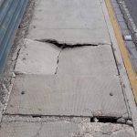 PERICOLO PONTE PADRE PIO: Cedimento importante del marciapiede