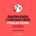 Puglia in ZONA ROSSA: Le nuove regole