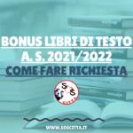 Bonus Libri 2021/2022: fornitura gratuita dei libri di testo (GUIDA)