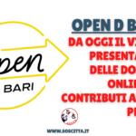 Open D_Bari 2: da oggi il via alle domande per i contributi a fondo perduto!